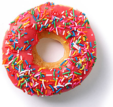 ring donut with sprinkles
